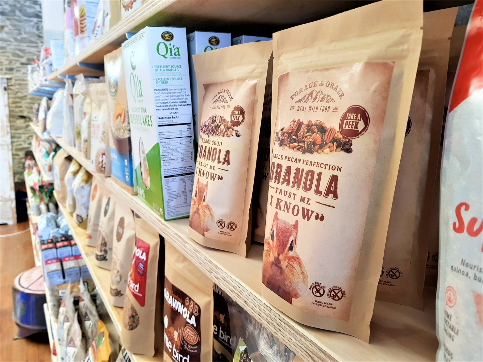 Feinermans Shop shelf in Roxburgh - organics